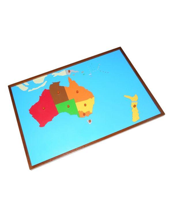 Map puzzle: Australia
