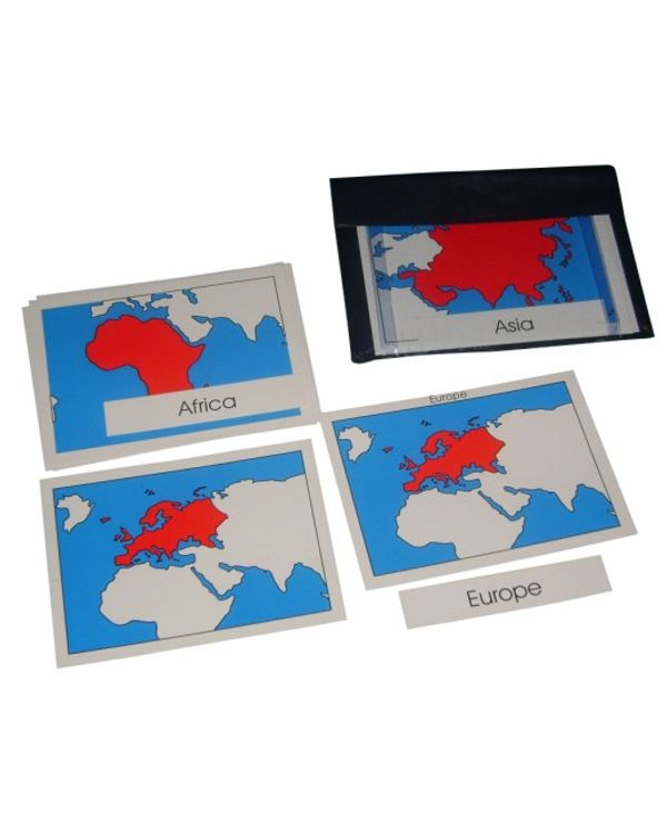 Continent Cards with nomenclature