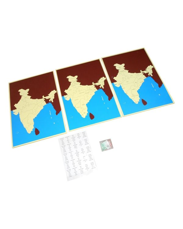 India Pin Maps: 3 sets incl states, capital and control map