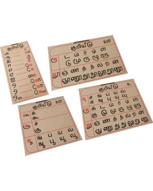 Tamil Kuriyeedu (matra Chart)