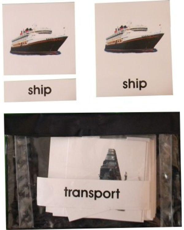 3 Part Nomenclature Cards: Transport