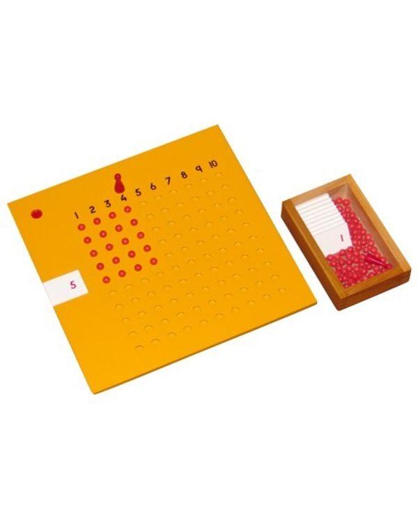 Multiplication Board inc bead box