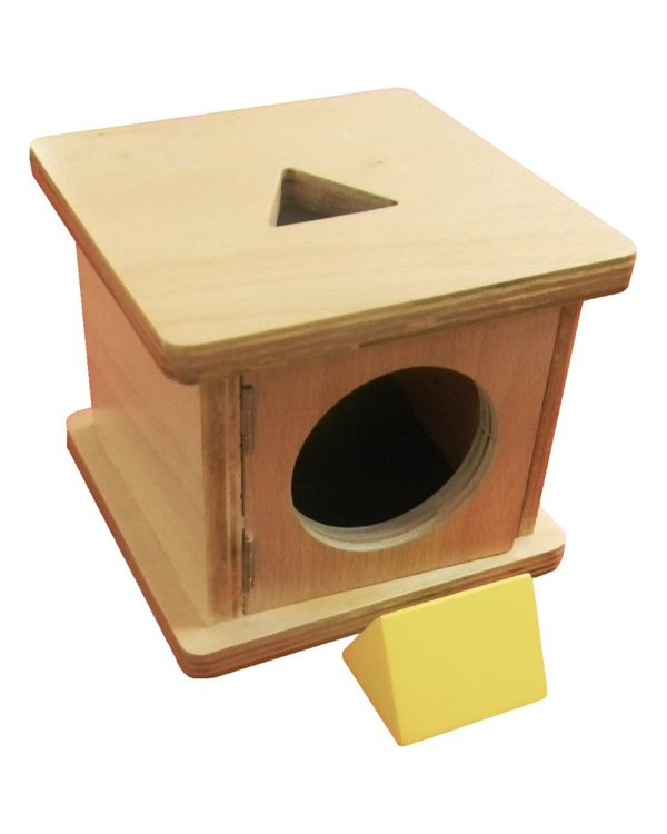 Infant Imbucare box with triangular prism