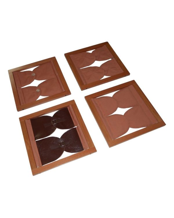 Toddler Button Frames: Set of 4
