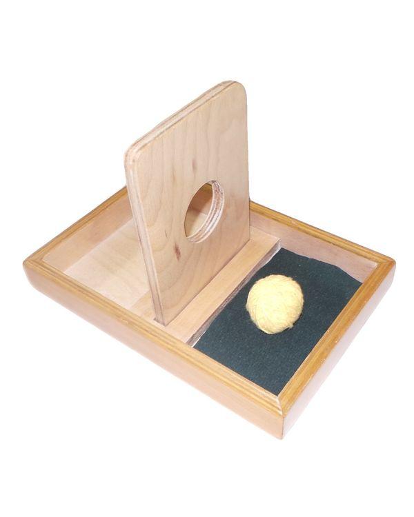 Imbucare board with knit ball