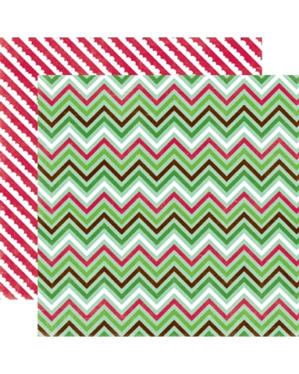 Echo Park - Holly Jolly  - Holiday Wrap paper  - 12X12 Paper