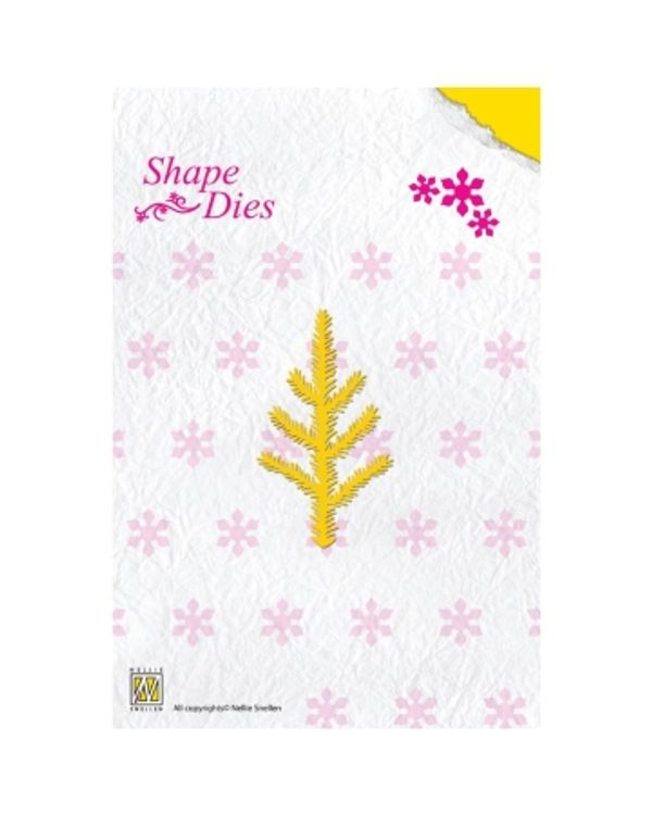 Nellie's Choice Shape Die - Christmas Pine Branch