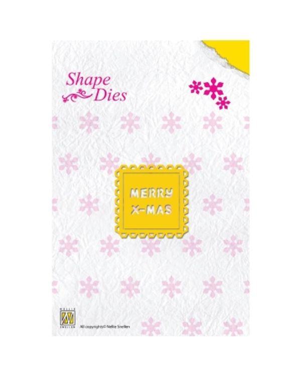 Nellie's Choice Shape Die -Merry Christmas Text