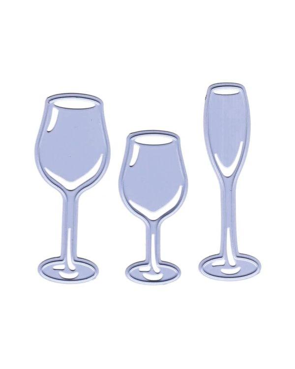 Joy! Crafts Cut & Emboss Die - 3 Glasses, .75