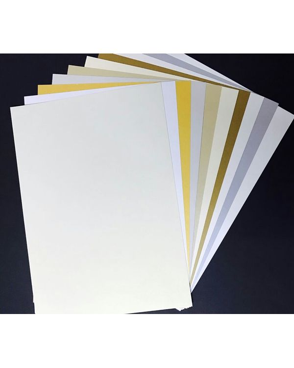 Victorian Craft - Premium Quality Metalic Iris  Paper (250 Gsm)-  Pack of10 sheets Size A4