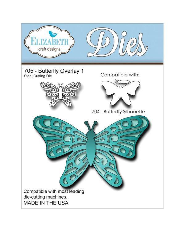 Elizabeth Craft Metal Die - Butterfly Overlay 1