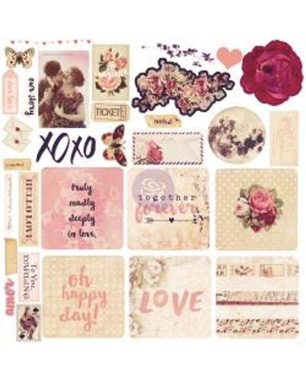 Love Clippings Ephemera Cardstock Die-Cuts