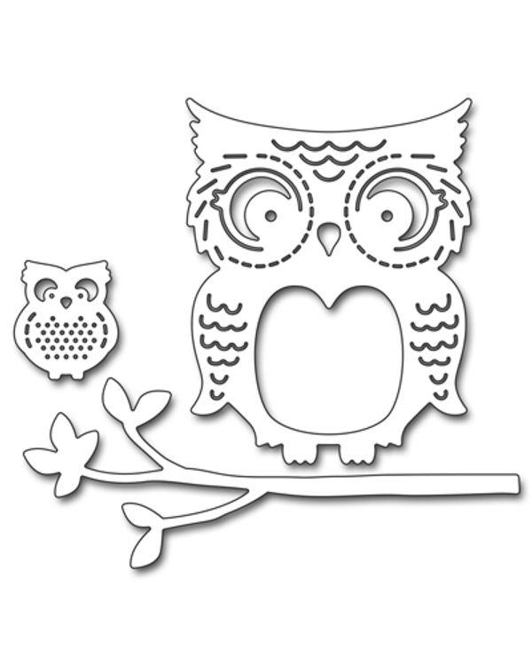 Penny Black - Mommy & Me Owls (Metal Die)