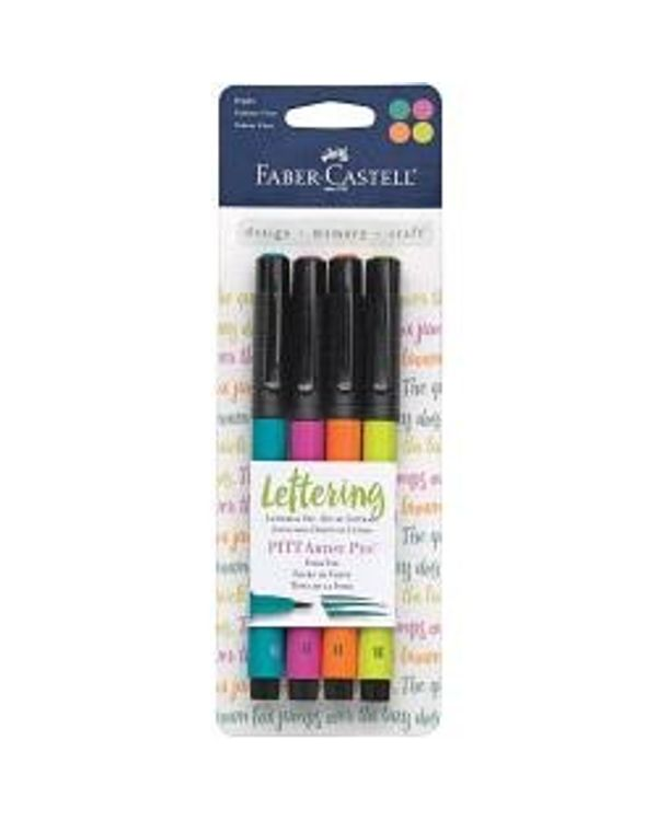 Mix & Match PITT Artist Brush Pens 4/Pkg - Bright
