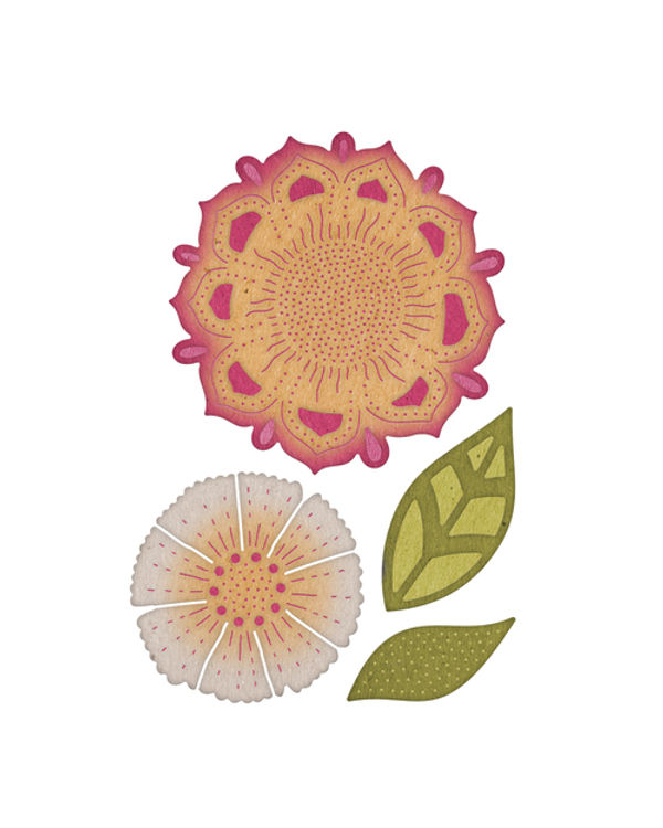 Cheery Lynn Designs- Bohemian Collection - Mehndi Botanicals 2 - 4 Die Set