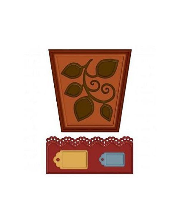 Heartfelt Creations - Decorative Flower Pot Die