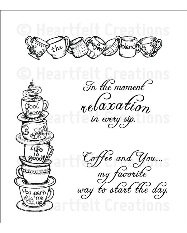 Heartfelt Creations Cling Rubber Stamp - All Stacked Up Cling Stamp Set