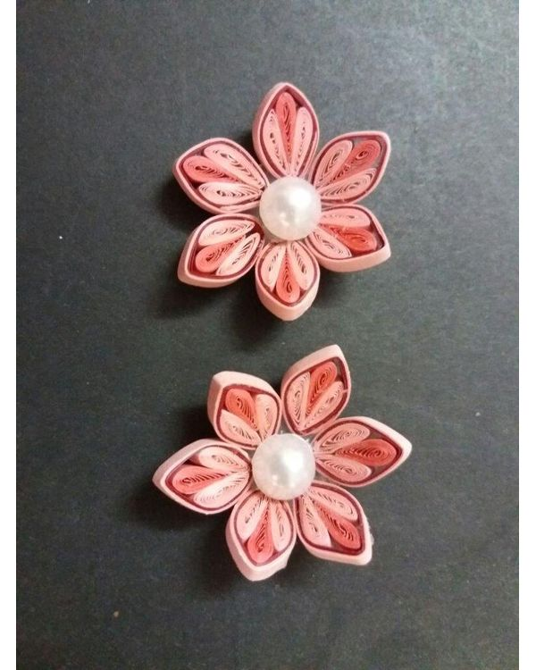 Handmade Quilled Flower - Multi Color - Pink - Large