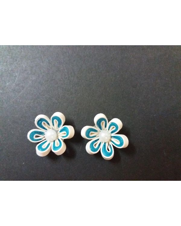 Handmade Quilled Flower - Multi Color - Green - Small