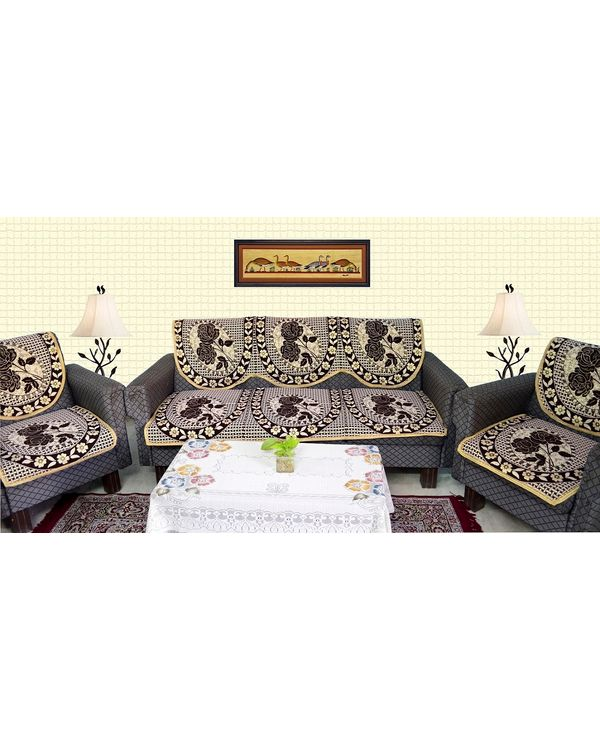 RajasthaniKart 6 piece Sofa cover set