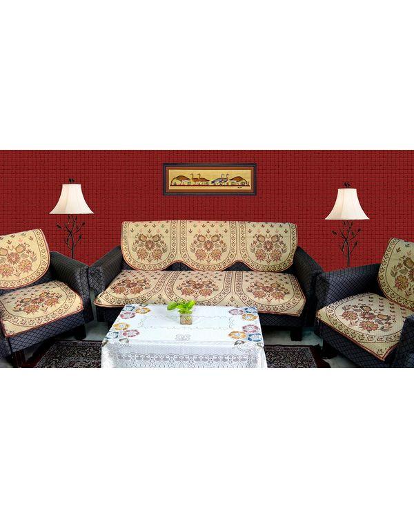 RajasthaniKart 6 piece Sofa cover set