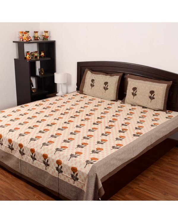 Exotica Cotton Double Beds-heet with Two Pillow Covers