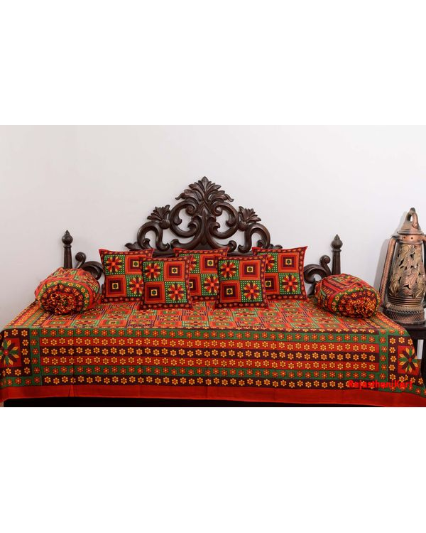 Traditional 8 Piece Diwan Set - 100% Cotton