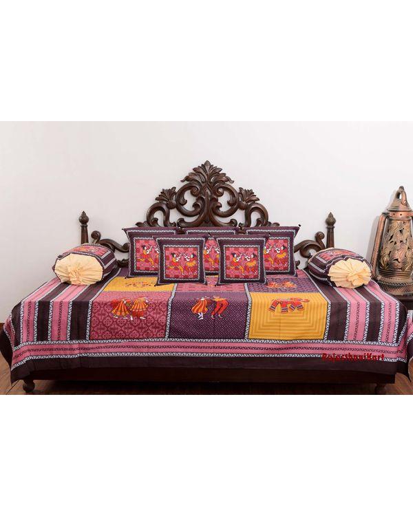 Traditional 8 Piece Diwan Set - 100% Cotton