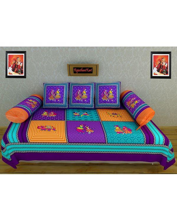 Traditional 6 Piece Diwan Set - 100% Cotton