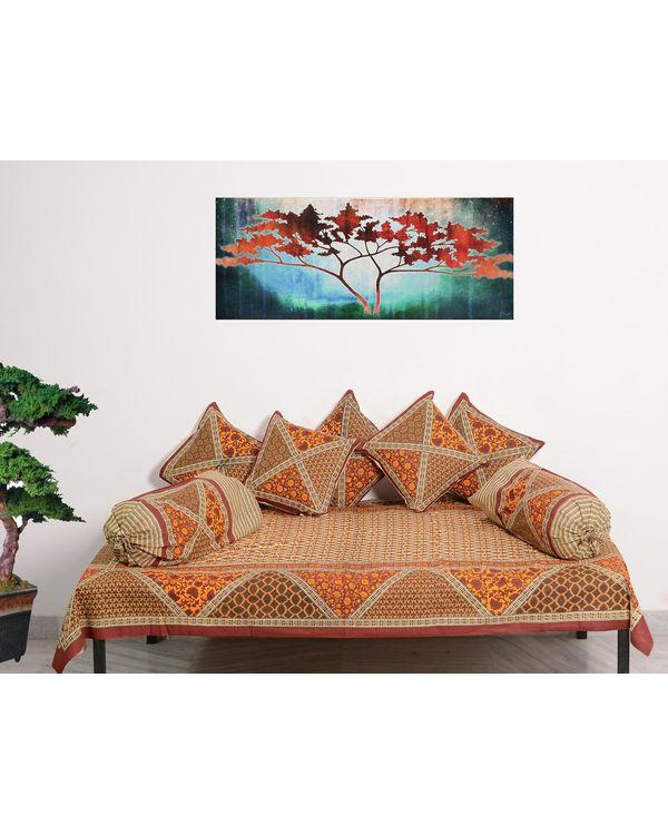 RajasthaniKart Traditional 8 Piece Diwan Set - 100% Cotton