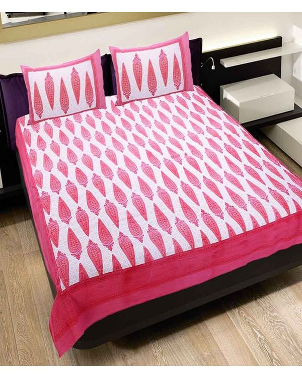 Marvella Cotton Double Beds-heet with Two Pillow Covers