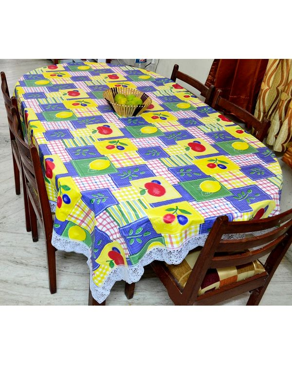 RajasthaniKart Premium printed plastic Dining table cover (90 X 60 inches)
