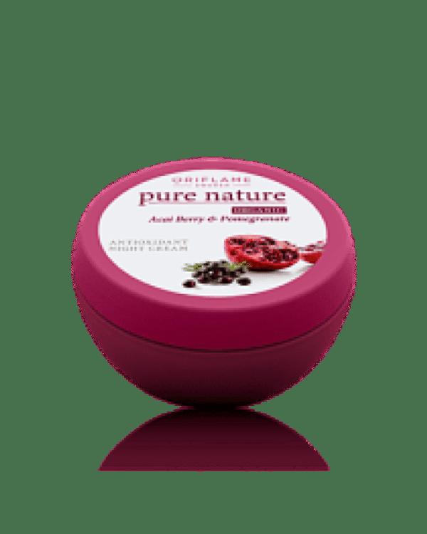 Oriflame Pure Nature Organic Acai Pomegranate Antioxidant Night Cream Code:21574