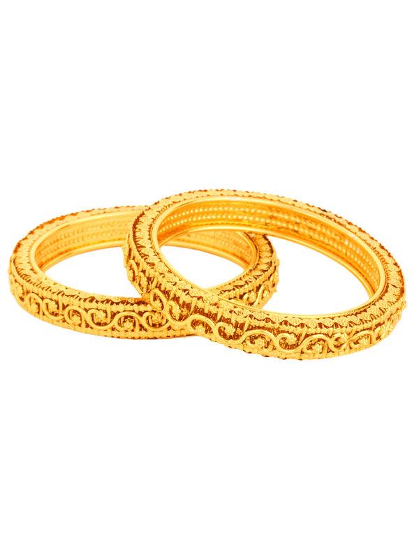 Appealing Golden Bangles Set Of 4 | Bng1001