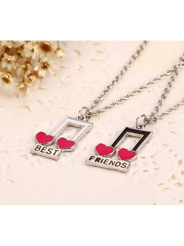 Bnb love best friends musical pendant for two aloadofball Choice Image