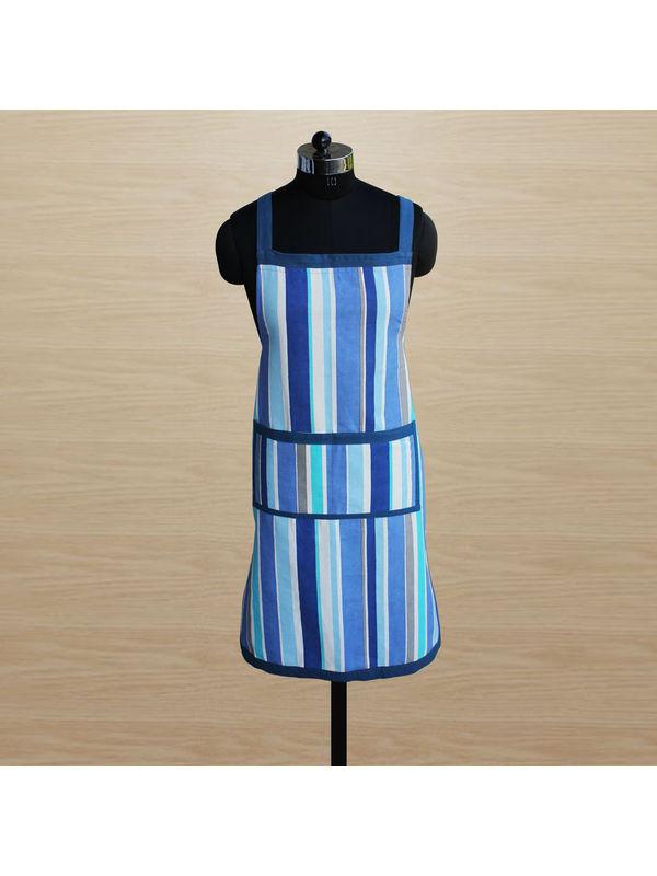 Stripe Apron (Pack of 1) by Dekor World (MORE COLOR)