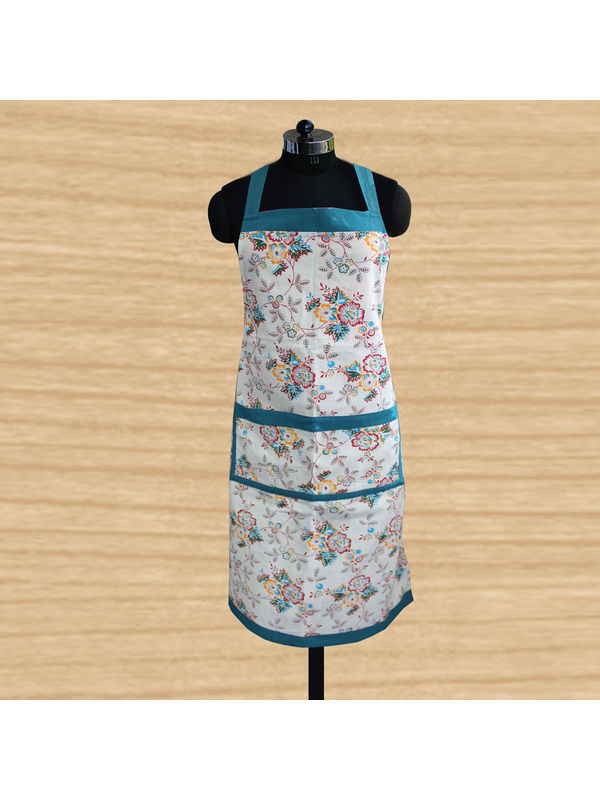 Multi Floral Apron (Pack of 1) by Dekor World