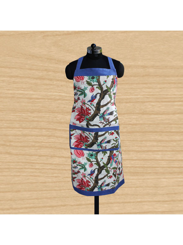 Floral Bird Printed Apron (Pack of 1) by Dekor World