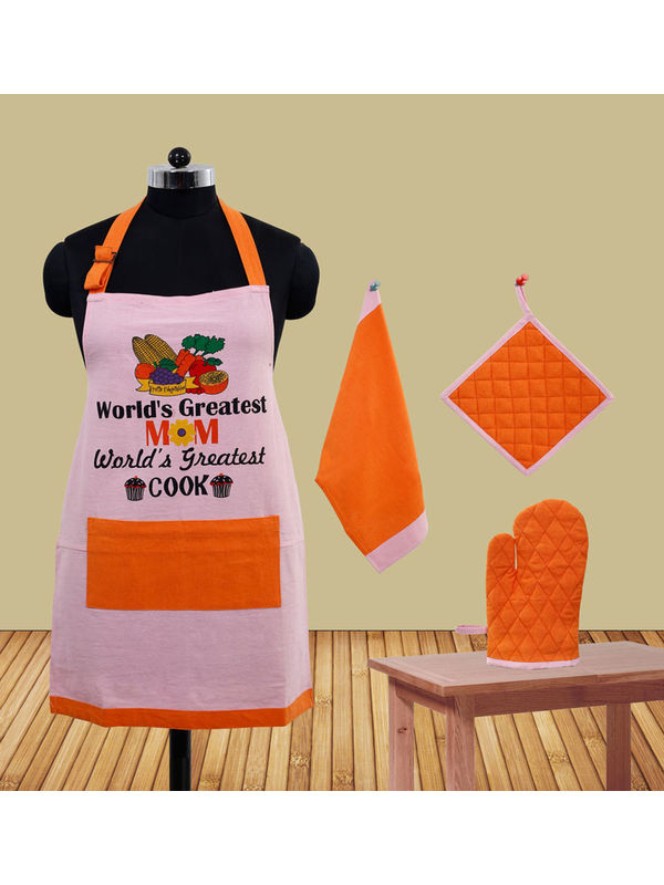 World's Greatest Mom Apron Set (Pack of 4) by Fun Club