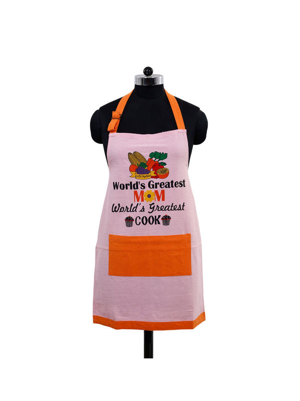 World's Greatest Mom Apron (Pack of 1) by Fun Club