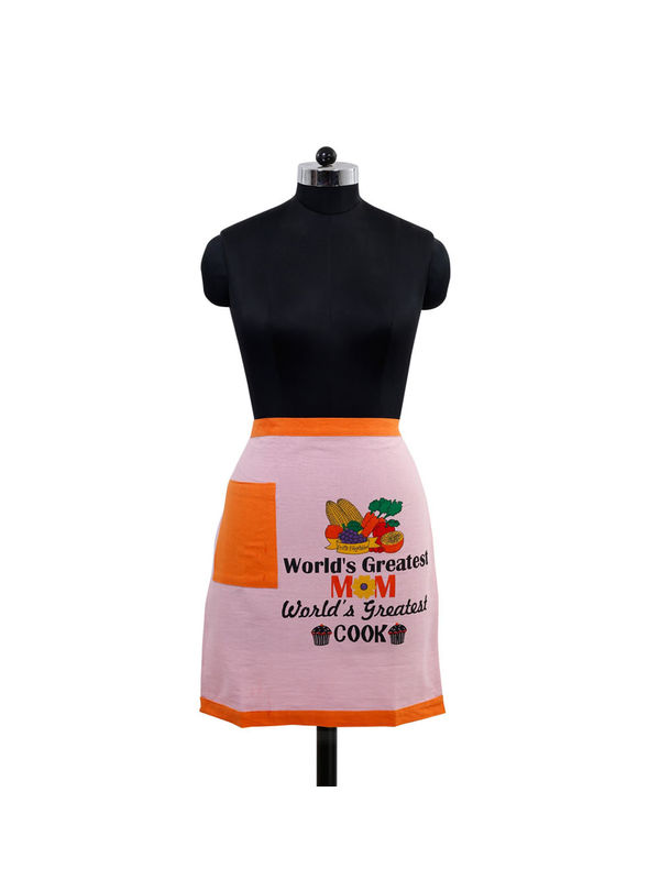 World's Greatest Mom Bistro Apron (Pack of 1) by Fun Club