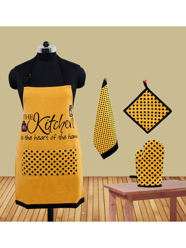 The Kitchen Apron Set (Pack of 4) by Fun Club