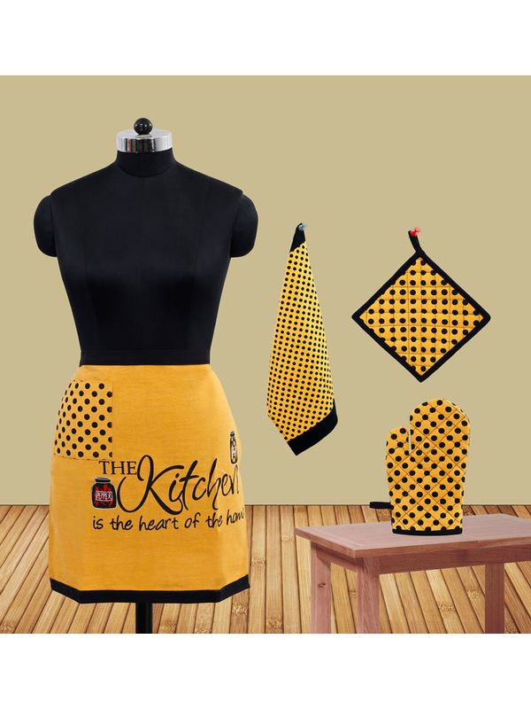 The Kitchen Bistro Apron Set (Pack of 4) by Fun Club