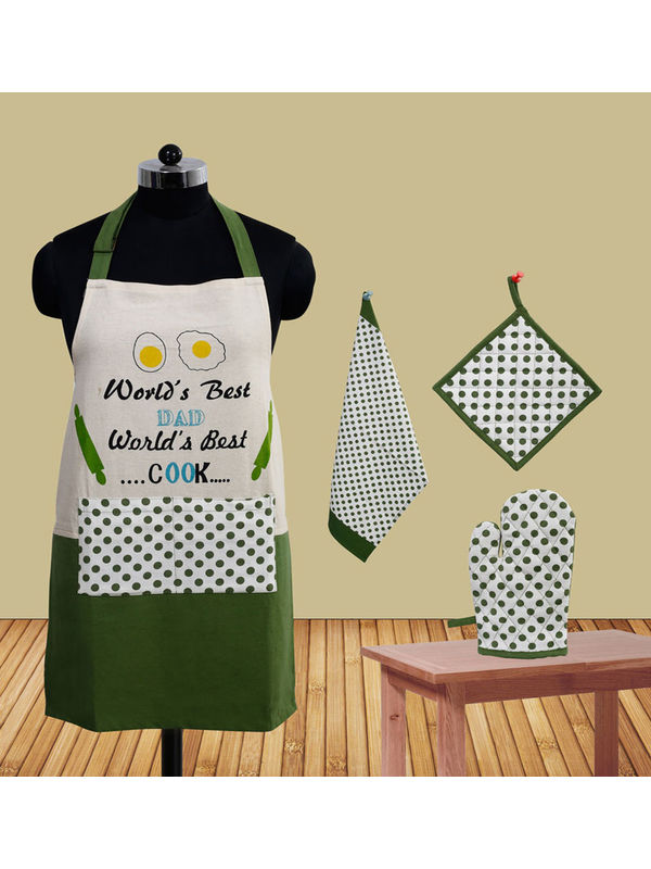 World's Best Dad Apron (Pack of 4) by Fun Club