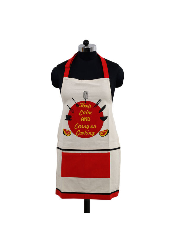 Keep Calm And Carry on Cooking Apron (Pack of 1) by Fun Club