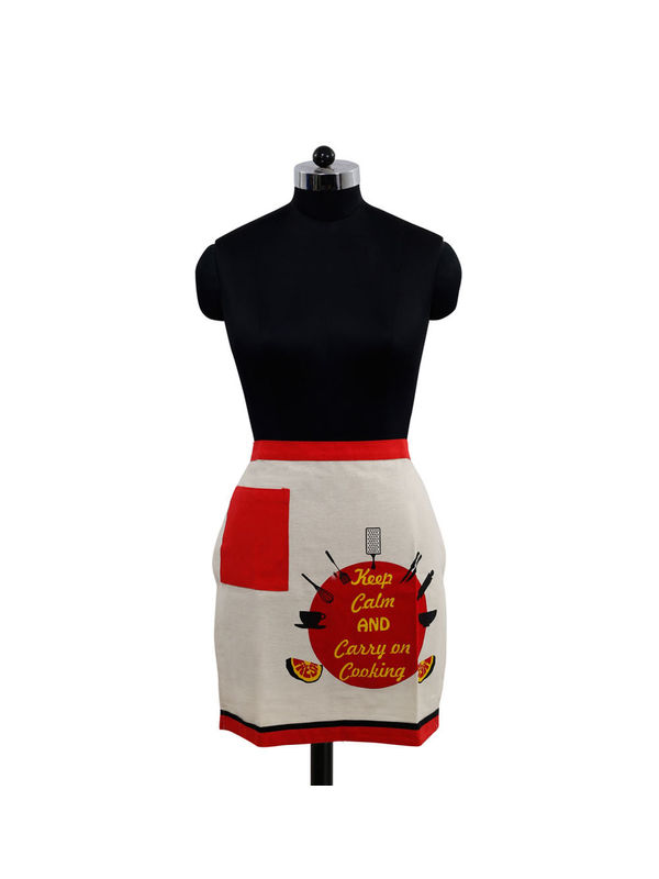 Keep Calm And Carry on Cooking Bistro Apron (Pack of 1) by Fun Club