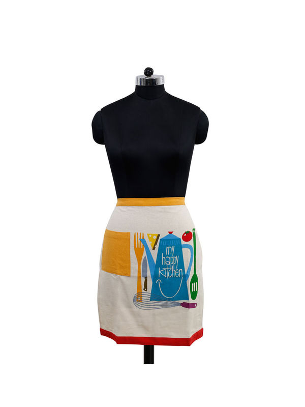 My Happy Kitchen Bistro Apron (Pack of 1) by Fun Club