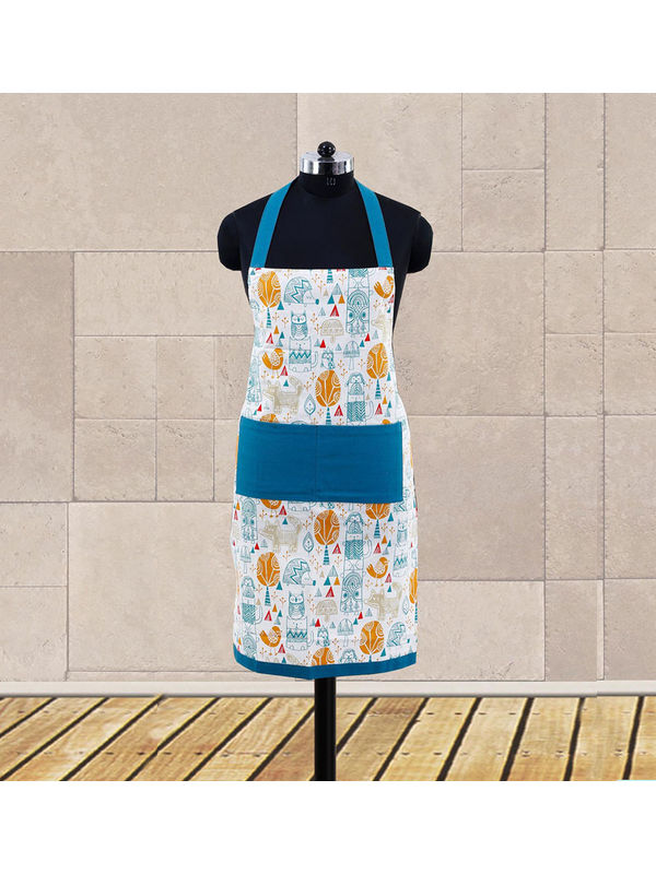 Multi Printed Apron (Pack of 1 Pc) by Dekor World