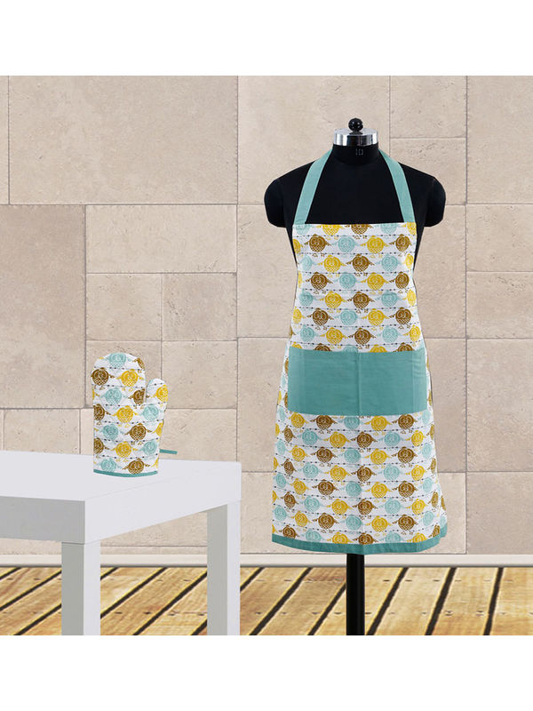 Owl Printed Apron Set (Pack of 2 Pc) by Dekor World