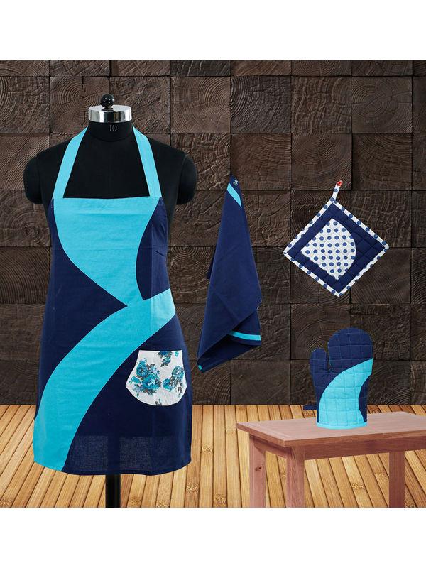 Designer Collection Apron Set(Pack of 4) by Dekor World